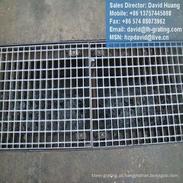 Canal galvanizado Grate piso de aço para a vala de drenagem