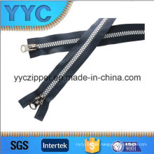 High Quality 8# Two Slider Two Sides Open Plastic Zipper