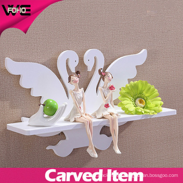Convenient Beautiful Carved Plastic Home Wall Shelf for Household