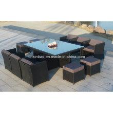 Wicker Möbel für Outdoor mit 180 * 115 * 74 Cm (6218-1)