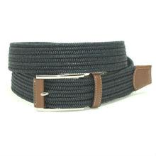 Men's braided fabric belt