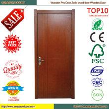 Puerta Interior blanco de madera compuesta puerta de madera sólida de diseños