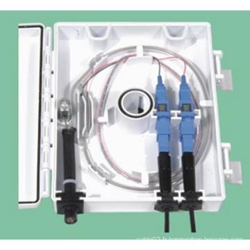 Boîte à bornes à fibre optique (1 splitte 2)