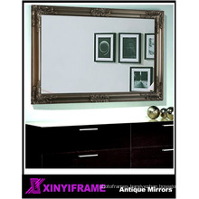 Antique gold square full length framed wall mirror