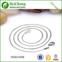 Оптовые ювелирные изделия мужские серебряные ожерелье цепь