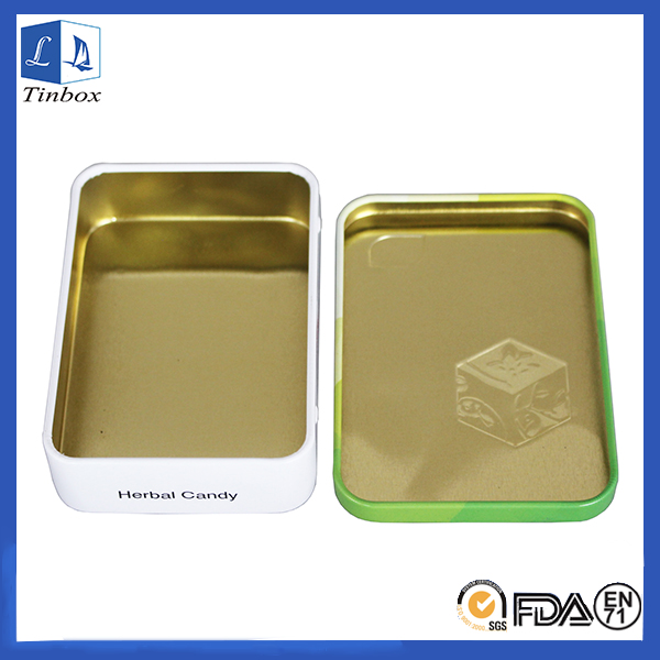 Rectangular Medicine Storage Tin Box