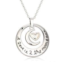 Encanto en collar de plata de la letra inicial de la joyería de la joyería de plata de la joyería