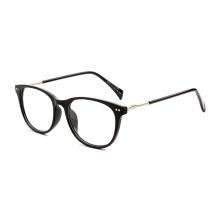 Lunettes de vue à monture ronde à lunettes à monture optique à lentille claire