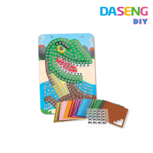 Kits de arte de espuma de mosaico pegajoso para niños