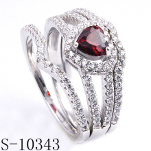 Neueste Modeschmuck Granat CZ Ring (S-10343)