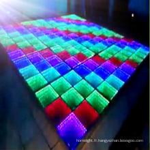 Piste de danse LED en verre miroir 3D