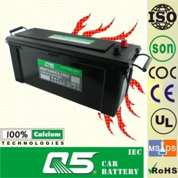 JIS-135F51 12V135AH, Maintenance Free Car Battery for Cars Trucks and Lorries