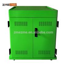 ZMEZME 2 Portas de Metal Pano Laptop / Ipad / Tablet Gabinete De Carregamento De Armazenamento / Carrinho Em Mobiliário de Escritório