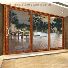 Алюминиевая рама стеклянные межкомнатные двери (фут-Д120)