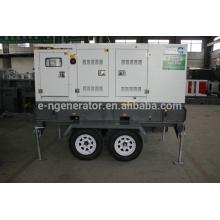 Дизель-генератор 20квт-200квт мобильный прицеп с колесами стандартного качества