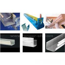 Venta caliente redondo perfiles acero lamina bajante/bajante de pluviales/canal/tubo forma la máquina