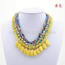 Novas contas de resina moda artesanais malha colar gargantilha