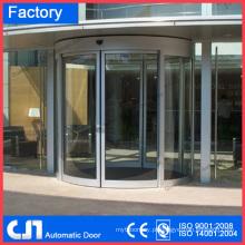 Automação de portas de vidro curvo deslizante