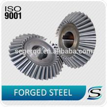 A precisão das peças de automóvel da fábrica forjou a engrenagem cónica material de aço