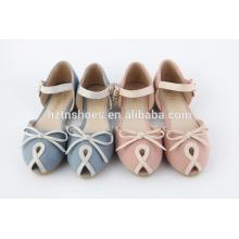 Novo design crianças sandálias para meninas com bowtie