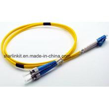 LC-FC Дуплексный одномодовый волоконно-оптический патч-корд