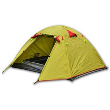 Double Layer 2-4 Person 3 Season Aluminum Rod Camping Tent