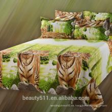 2017 Venta al por mayor el último animal diseño 3D imprimir ropa de cama conjuntos / hoja de cama BS09
