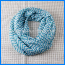 High quality print infinity chevron scarf