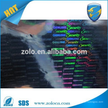 Wholesale Strong Adhesive Permanent sticky security labels holographic film