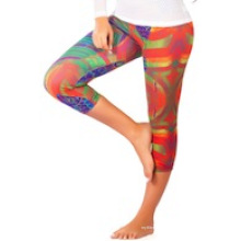 Pantalones Capri, Legging Capri, Hot Yoga Wear Ropa Crp-009