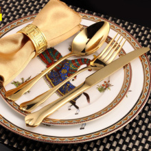 Wholesale Novelty Elegant Luxury Stainless Dinnerware set