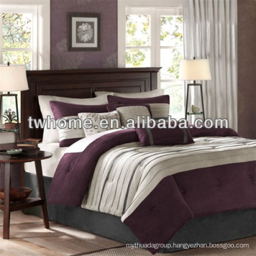 Madison Park Palmer Comforter Duvet Cover Pieced Purple Bedding Set