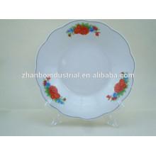 """9"""" porcelain soup plate with cut edge"""