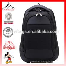 Mochila bolsa de ordenador portátil de poliéster negro venta caliente