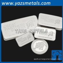 Etiqueta de caneta de prata esterlina 999 personalizada