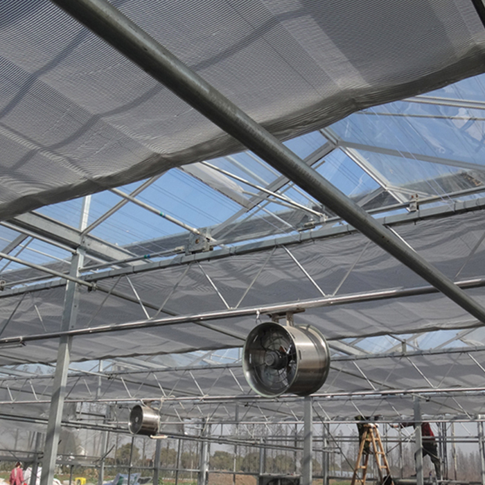 External and Internal Sun Shading for Greenhouse