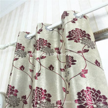 Top Drapes Polyester Black Yarn Jacquard Blackout Curtain