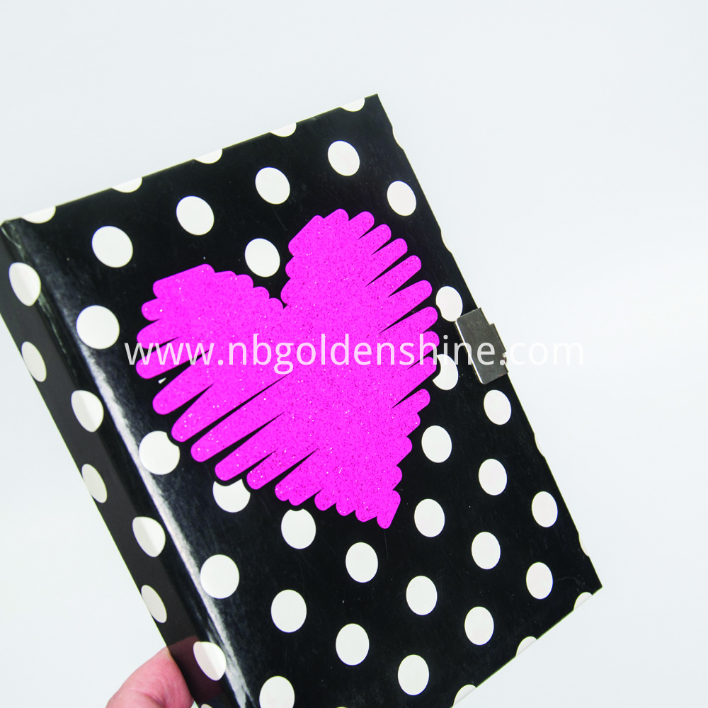 Deluxe Secret Diary With Glitter Notebook
