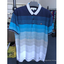 Herrengarn gefärbte Jacquard Pique Polo Shirts