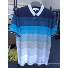 Men's Yarn dyed Jacquard pique polo shirts