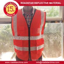 Promocional de la insignia impresa chaleco reflectante de seguridad de alta visibilidad