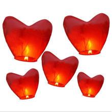 lanternas baratas chinesas relativas à promoção e tradicionais do céu com papel fireretardant e fireproofed