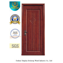 Diseño chino a prueba de agua MDF puerta para interiores con madera maciza (xcl-817)