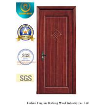 Porte de MDF de preuve de l'eau de conception chinoise pour l'intérieur avec le bois plein (xcl-817)