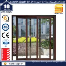 Doppel-Schiebe-Verglasung Aluminium-Glas-Tür