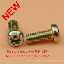 Pan Torx Pin Schraube Sicherheitsschraube