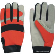 Pig Grain Leather Palm Mechanic Work Glove-7303. Wl