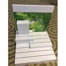 Porte-affiche acrylique blanc cosmétique