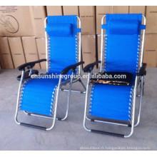 Pliante chaise zéro gravité, chaise inclinable pliable, chaise chaise longue
