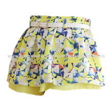 Women's short skirt, made of cotton, with fashionable and simple design